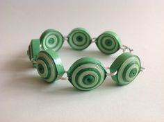Quilled Paper Bracelet from Yesterday's news - today's accessories