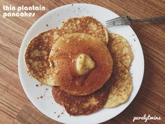 thin plantain #pancakes - blend one whole plantain with 3 eggs and 1 1/2 tsp coconut oil. Cook up on skillet. Enjoy with your favorite toppings!