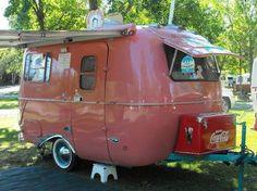 cute little pink trailer