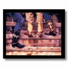 Amazon.com - Old Cowboy Boots And Spurs Western Rodeo Picture Art Print