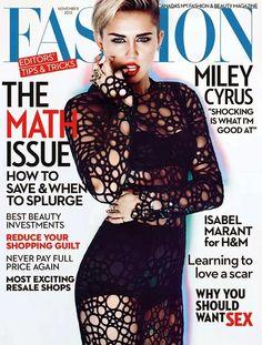 Miley Cyrus covers Fashion Magazine November 2013