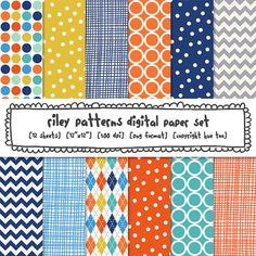 digital paper boys, blue aqua navy orange yellow, digital photography backgrounds, boys invitations birthday, instant download - 403