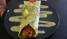 Vegan burrito with avocado sauce - Bambi's Kitchen, City Bambi, Vegan Burrito, Burritos, Avocado, Tacos, Mexican, City, Ethnic Recipes, Kitchen