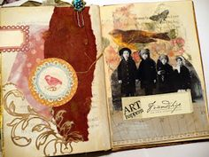 Here is a visual journey of my altered book with my dear friend Lenna  that we have been working on for t...