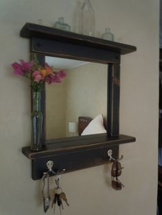 CUSTOM ORDER for CYNTHIA Craftsman Style Mirror with Shelves