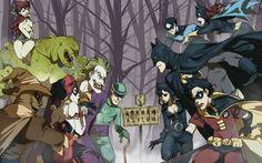 Asylum Rogues vs. the Bat-Family