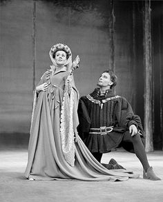 Credit: Chris Arthur. Joan Plowright and Jeremy Brett in Love's Labours Lost in 1968 at The National Theater.