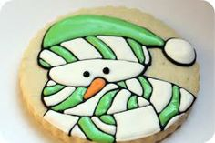 snowman cookie icing