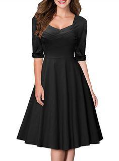 787f9bb9ba Miusol Women's Pleated Flared A-line Short Prom Dress Sale: £21.99 http: