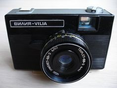 Vintage VILIA Soviet compact camera with Cap and CaseSoviet