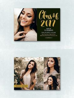 Senior Graduation Announcement 048. Card Design Templates