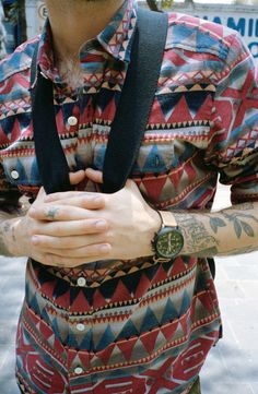 pattern mens fashion urban outfitters geometric tribal flannel
