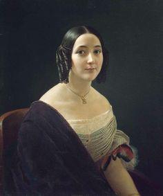 1850s Fashion, Edwardian Fashion, Lace Painting, Woman Painting, Female Portrait, Female Art, Renaissance, Historical Hairstyles, Old Portraits