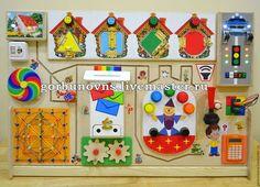 """Развивающие игрушки ручной работы. Ярмарка Мастеров - ручная работа. Купить Бизиборд Развивающий Модуль Доска """"Квартет"""" с Напольной Подставкой. Handmade."""