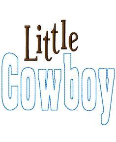 Little Cowboy - Reverse Applique - Machine Embroidery Design -