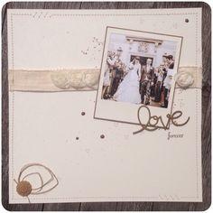 Wedding Scrapbooking Layout with Stampin' Up! cestlafranz.de » Aus den Augen, aus dem Sinn.