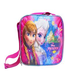 This Pink & Blue Frozen Lunch Bag is perfect! #zulilyfinds
