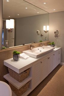 Sustainably Beach Modern - contemporary - bathroom - san diego - by KW Designs
