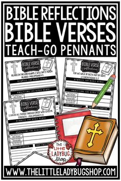 You will love these Bible Verse Reflection Teach-Go Pennants™. These are perfect for having your students focus on a weekly bible verse. There are 50 bible verses plus a blank pennant to use for any bible verse. Perfect activities for students in 2nd grade, 3rd grade, 4th grade and home schooling classrooms. #biblelessonsforkids #bibleactivitiesforkids #religionlessons