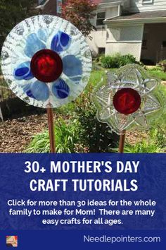 Click for more than 30 gift ideas for the whole family to make for Mom for Mother's Day!  There are many easy crafts for all ages.