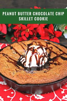 My favorite part of the holidays is spending time with my family. We love to bake my mom's Peanut Butter Chocolate Chip Skillet Cookie with ice cream on top and a tall glass of milk. Yum!