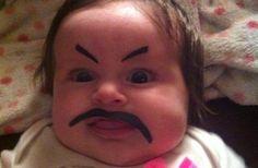 Utspökad bebis.