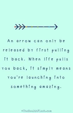An arrow can only be... http://thehealthflash.stfi.re/inspirational-quotes/