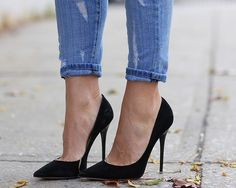 EVERY woman needs a pair of black stilettos, every woman. #basics #beauty #heels - Jimmy Choo