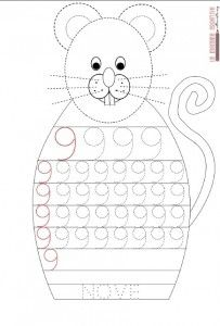mouse number 9 trace worksheet