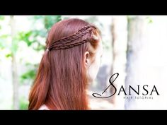 ▶ Game of Thrones Hair Tutorial - Sansa Triple Braids - YouTube