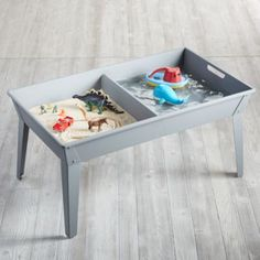 If you can't take your kids to the beach, bring the beach to them.  Sand & Surf Table features a sturdy, iron and wood construction and two spacious bins for water and play sand, so your little ones can have a nice day at the beach from the comfort of your own backyard.  It even features a protective lid to cover it when not in use.