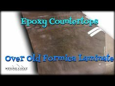 This video is teaches how to use Stone Coat Countertop Epoxy over old Formica Laminate counters. We go over the technique of how to leave on the back splash ...