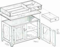 Furniture Plans Colonial Dry Sink Cabinet Google Search