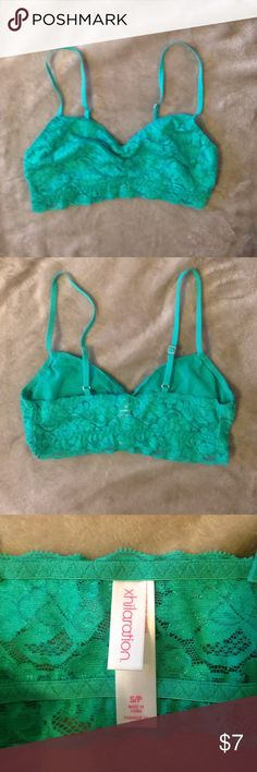 Dark sea foam green Xhilaration bralette Dark sea foam green Xhilaration bralette with adjustable straps  🚫TRADES.                                                                                       ✨ 20% off bundles 🔵 Make me a reasonable offer! Xhilaration Intimates & Sleepwear Bras