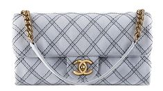 The Beautiful Bags of Chanel Spring 2014 Pre-Collection  -Chanel Metallic Stitch Small Flap Bag