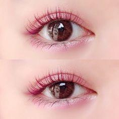 Korean Eye Makeup, Eye Makeup Art, Asian Makeup, Pink Makeup, Makeup Inspo, Makeup Inspiration, Beauty Makeup, Kawaii Makeup, Cute Makeup