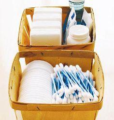 Basket storage.