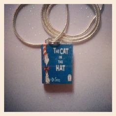 #catinthehat, #handmadejewelry, #bookcharms, #bookcharmies, #charmiesbywendy
