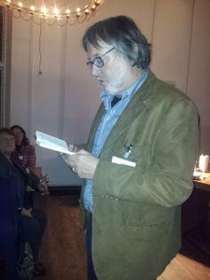 Slam. Rom Molemaker won. Symposium 'De kunst van het schrijven', Centraal Museum, Utrecht, 29-11-2013.