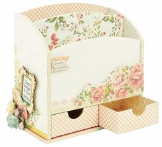 Letter holder wooden DIY kit - beyond the page project, scrapbooking, great for storage.