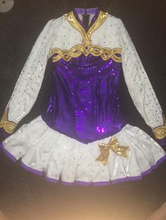 Cute Purple Gavin Doherty Irish Dance Dress Solo Costume For Sale