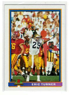 Sports Cards Football – 1991 Bowman RC Eric Turner