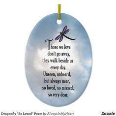 "Dragonfly ""So Loved"" Poem Ceramic Ornament                                                                                                                                                                                 More"