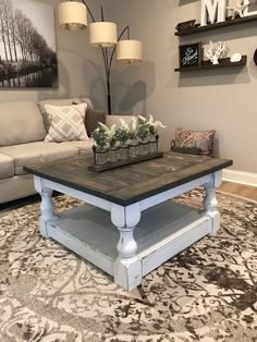 34 Perfect Diy Rustic Coffee Table Design Ideas And Remodel. If you are looking for Diy Rustic Coffee Table Design Ideas And Remodel, You come to the right place. Here are the Diy Rustic Coffee Table. Farmhouse Style Coffee Table, Rustic Farmhouse Table, Rustic Coffee Tables, Diy Coffee Table, Decorating Coffee Tables, Farmhouse Furniture, Rustic Furniture, Home Furniture, Antique Furniture