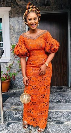 lace fashion Latest Aso Ebi Collections For Your Owambe Parties OCB African Fashion Ankara, Ankara Dress Styles, Latest African Fashion Dresses, African Dresses For Women, African Print Fashion, African Attire, Africa Fashion, African Prints, African Women