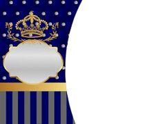 Corona Dorada en Azul y Brillantes: Invitaciones para Bodas para Imprimir Gratis. Bday Invitation Card, Birthday Invitations, Prince Party, Prince Birthday, Baby Shower Parties, Baby Boy Shower, Baby Shower Gifts, Cumpleaños Shabby Chic, Baby Boy Cards