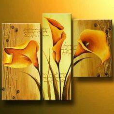 Cuadros Modernos Flores Abstractos Decoracion - $ 750,00 en ...