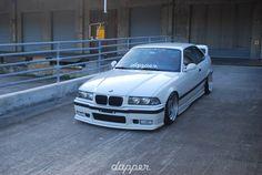 BMW E36 M3 white slammed dapper