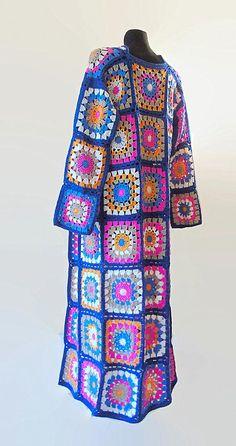 New Crochet Cardigan Granny Square Colour 64 Ideas Granny Square Sweater, Sunburst Granny Square, Granny Square Bag, Crochet Granny Square Afghan, Baby Afghan Crochet, Granny Squares, Crochet Baby Cocoon, Crochet Coat, Crochet Cardigan