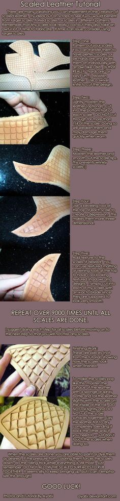 Scaled leather armour tutorial Cosplay Resources : Photo